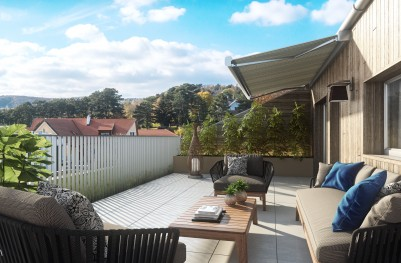 Innenvisualisierung BT2 Terrasse